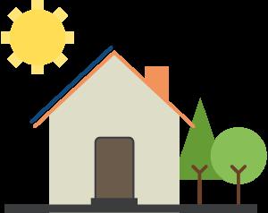 Icon Photovoltaikanlage Haus