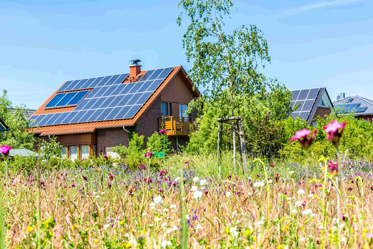 Häuser mit Photovoltaikanlagen