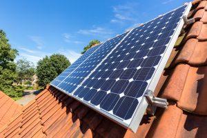 Solarmodule auf Dach