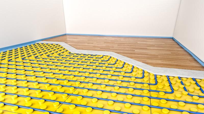 Eine Fußbodenheizung lässt sich mit einer Wärmepumpe kombinieren