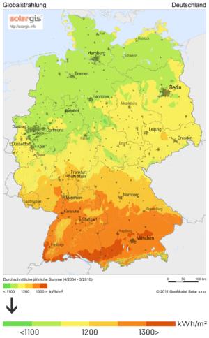 Sonneneinstrahlung in Deutschland als Einflussfaktor auf den Photovoltaik Ertrag