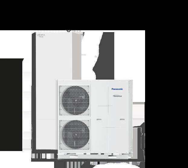 Panasonice Luft-Wasser-Wärmepumpe freigestellt