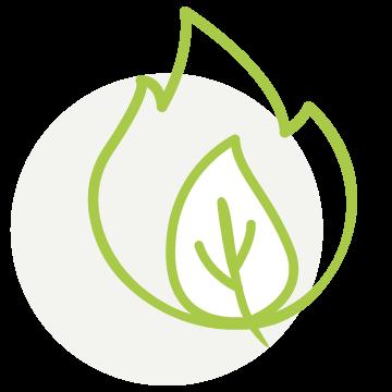 Icon umweltfreundlich heizen