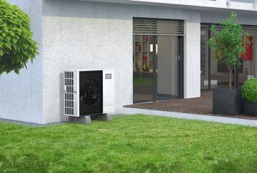Mitsubishi Wärmepumpe außen Hauswand