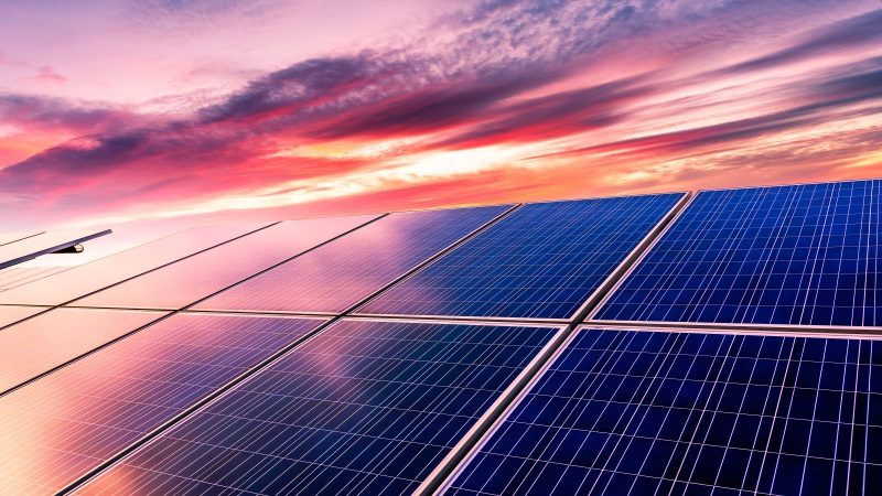 Photovoltaik Sonnenuntergang