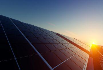 Sonnenuntergang Photovoltaikmodule
