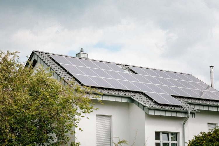 Photovoltaikanlage auf Hausdach
